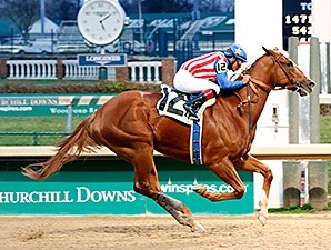 Dortmund wins an Allowance Race at Churchill Downs.