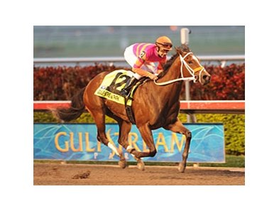 "9-1 shot Bickersons destroyed the field in the Forward Gal Stakes at Gulfstream Park.<br><a target=""blank"" href=""http://www.bloodhorse.com/horse-racing/photo-store?ref=http%3A%2F%2Fpictopia.com%2Fperl%2Fgal%3Fprovider_id%3D368%26ptp_photo_id%3D%208770278%26ref%3Dstory"">Order This Photo</a>"