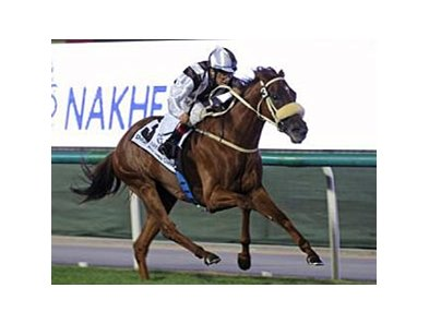 Sun Classique gives trainer Michael de Kock his second victory on the 2008 Dubai World Cup program with a win in the Sheema Classic.