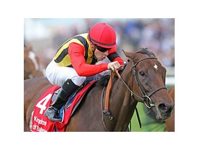 "Sahpresa and Christophe Lemaire take the Kingdom of Bahrain Sun Chariot Stakes.<br><a target=""blank"" href=""http://www.bloodhorse.com/horse-racing/photo-store?ref=http%3A%2F%2Fpictopia.com%2Fperl%2Fgal%3Fprovider_id%3D368%26ptp_photo_id%3D9679158%26ref%3Dstory"">Order This Photo</a>"