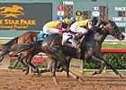 El Gato Malo flies home late to take the Lone Star Derby (gr. III).