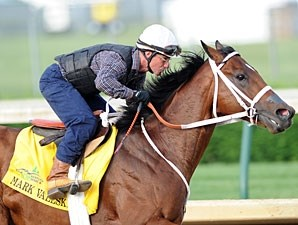 Mark Valeski works towards the Kentucky Derby. 4/30/2012