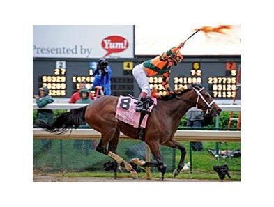 "2008 Kentucky Oaks winner Proud Spell<br><a target=""blank"" href=""http://www.bloodhorse.com/horse-racing/photo-store?ref=http%3A%2F%2Fpictopia.com%2Fperl%2Fgal%3Fprovider_id%3D368%26ptp_photo_id%3D5948120%26ref%3Dstory"">Order This Photo</a>"