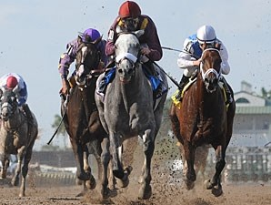 S. S. Stone wins the 2011 Skip Away Stakes.