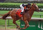 "Ginger Punch rolls through the raindrops to take the Louisville Stakes.<br><a target=""blank"" href=""http://www.bloodhorse.com/horse-racing/photo-store?ref=http%3A%2F%2Fpictopia.com%2Fperl%2Fgal%3Fprovider_id%3D368%26ptp_photo_id%3D4376622%26ref%3Dstory"">Order This Photo</a>"