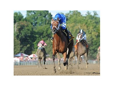 "Questing leaves the rest behind in the Alabama at Saratoga.<br><a target=""blank"" href=""http://photos.bloodhorse.com/AtTheRaces-1/at-the-races-2012/22274956_jFd5jM#!i=2033104202&k=Nv8SHMx"">Order This Photo</a>"