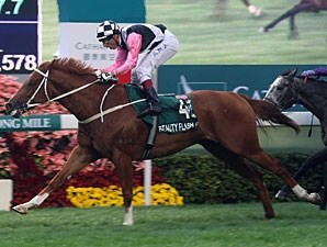 Beauty Flash  wins the 2010 Hong Kong Mile.