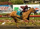 "Evita Argentina storms home in the A Gleam at Hollywood Park.<br><a target=""blank"" href=""http://www.bloodhorse.com/horse-racing/photo-store?ref=http%3A%2F%2Fpictopia.com%2Fperl%2Fgal%3Fprovider_id%3D368%26ptp_photo_id%3D8341954%26ref%3Dstory"">Order This Photo</a>"
