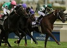 Regally Ready holds off Bated Breath to win the Nearctic at Woodbine.