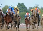 Alpha and Golden Ticket in the Travers Stakes.