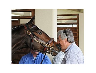 Steve Asmussen and Rachel Alexandra, two of the new inductees into the Fair Grounds Hall of Fame.