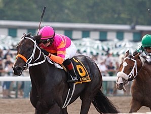 Pants On Fire wins the 2011 Pegasus Stakes.