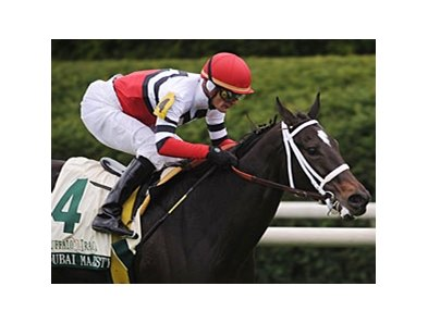 Dubai Majesty and Jamie Theriot take the Buffalo Trace Franklin County Stakes at Keeneland.