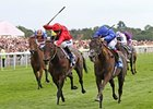 "Blue Bunting and Frankie Dettori (right) take the Yorkshire Oaks.<br><a target=""blank"" href=""http://www.bloodhorse.com/horse-racing/photo-store?ref=http%3A%2F%2Fpictopia.com%2Fperl%2Fgal%3Fprovider_id%3D368%26ptp_photo_id%3D9639863%26ref%3Dstory"">Order This Photo</a>"