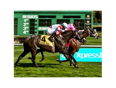 Miss Empire outfights Butterfly Soul to win the Pike Place Dancer Stakes.