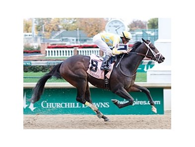 Uncaptured won the Iroquois Stakes by 5 1/2 lengths on October 28.