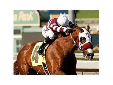 Willa B Awesome led all the way to win the Santa Ysabel Stakes at Santa Anita.