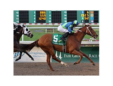 "It Happened Again pulls away to win the Claiming Crown Jewel.<br><a target=""blank"" href=""http://www.bloodhorse.com/horse-racing/photo-store?ref=http%3A%2F%2Fpictopia.com%2Fperl%2Fgal%3Fprovider_id%3D368%26ptp_photo_id%3D9766213%26ref%3Dstory"">Order This Photo</a>"