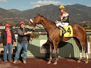 Branding Maiden Win Gary Stevens up, January 12, 2013.