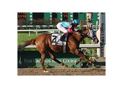 Candy Ball and Miguel Mena cruise to victory in the Bayou Breeders' Cup Handicap.