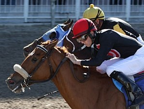 Cool Bullet holds off Big Texas Daddy to win the 2009 Sugar Bowl Stakes.