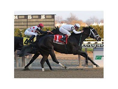 "Leah's Secret outfinishes Slewfoundmoney to take the Top Fight Handicap.<br><a target=""blank"" href=""http://www.bloodhorse.com/horse-racing/photo-store?ref=http%3A%2F%2Fpictopia.com%2Fperl%2Fgal%3Fprovider_id%3D368%26ptp_photo_id%3D6886700%26ref%3Dstory"">Order This Photo</a>"