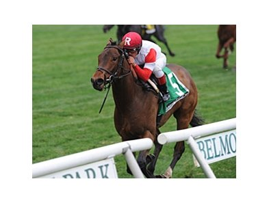 "Bobby's Kitten won the Pilgrim Stakes Oct. 6 by 6 1/4 lengths.<br><a target=""blank"" href=""http://photos.bloodhorse.com/AtTheRaces-1/at-the-races-2013/27257665_QgCqdh#!i=2815276212&k=zCg6mtK"">Order This Photo</a>"