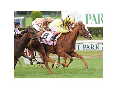 "Nahrain gets up late to win the Flower Bowl Invitational Stakes at Belmont Park.<br><a target=""blank"" href=""http://photos.bloodhorse.com/AtTheRaces-1/at-the-races-2012/22274956_jFd5jM#!i=2117891274&k=vLwXz6H"">Order This Photo</a>"