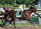 "A Little Warm takes the Jim Dandy under John Velazquez.<br><a target=""blank"" href=""http://www.bloodhorse.com/horse-racing/photo-store?ref=http%3A%2F%2Fpictopia.com%2Fperl%2Fgal%3Fprovider_id%3D368%26ptp_photo_id%3D9124471%26ref%3Dstory"">Order This Photo</a>"