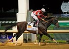 Fort Larned winning the Stephen Foster.