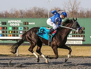 Black Onyx wins the 2013 Spiral Stakes.