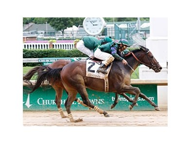Scatman overtakes Jasizzle to win the Aristides at Churchill Downs.