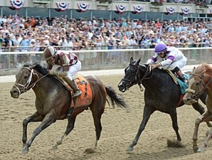 Forty Tales wins the 2013 Woody Stephens.