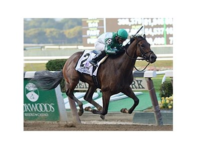 "Artemis Agrotera is in control in the stretch of the Frizette Stakes.<br><a target=""blank"" href=""http://photos.bloodhorse.com/AtTheRaces-1/at-the-races-2013/27257665_QgCqdh#!i=2812484884&k=CwBKKmL"">Order This Photo</a>"