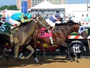 Alternation wins the 2012 Pimlico Special.