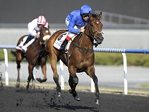 Gamilati in the UAE 1000 Guineas.