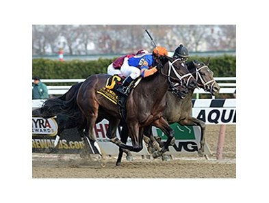 "Stopchargingmaria goes by late to win the Demoiselle Stakes.<br><a target=""blank"" href=""http://photos.bloodhorse.com/AtTheRaces-1/at-the-races-2013/27257665_QgCqdh#!i=2940038647&k=C9zkPSH"">Order This Photo</a>"