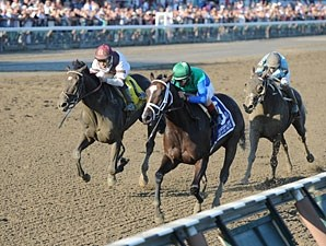 Love and Pride wins the 2012 Personal Ensign.