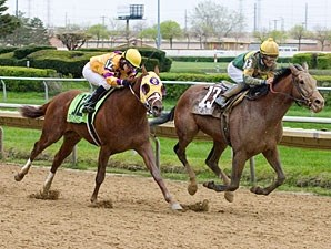 Done Talking wins the 2012 Illinois Derby.