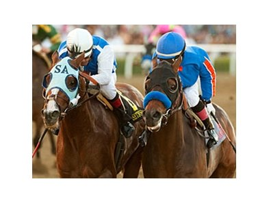 "Setsuko (left) in the Santa Anita Handicap. <br><a target=""blank"" href=""http://www.bloodhorse.com/horse-racing/photo-store?ref=http%3A%2F%2Fpictopia.com%2Fperl%2Fgal%3Fprovider_id%3D368%26ptp_photo_id%3D9432933%26ref%3Dstory"">Order This Photo</a>"