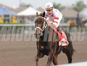 Amen Hallelujah wins the 2010 Davona Dale.