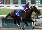 Nates Mineshaft began his 2012 campaign with three consecutive wins, including the New Orleans Handicap (shown).