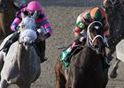 Believe You Can (right) won the Tiffany Lass Stakes by 10 1/4 lengths on Feb. 2.