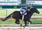 Rocket Twentyone breezed six furlongs at Churchill Downs on Oct. 21.
