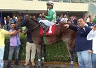 Falling Sky after his allowance win at Gulfstream Park on December 15.
