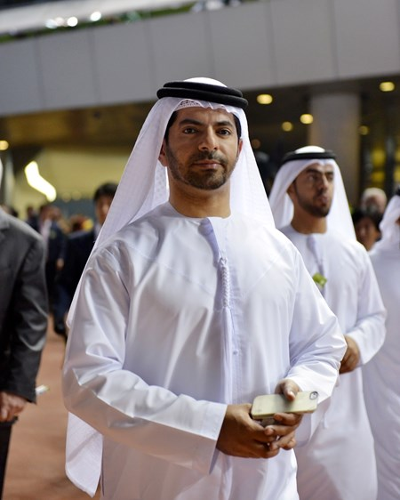 Trainer Saeed Bin Suoor on Dubai World Cup Day.