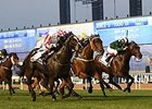 Sole Power (outside) storms home to win the Al Quoz Sprint.