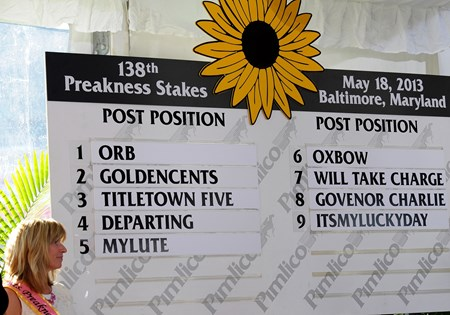 Caption:   Preakness week 2013 with the Post Position Draw held at Pimlico on May 15, 2013, in Baltimore, Md. PREAKNESS Draw1 image876 Photo by Anne M. Eberhardt