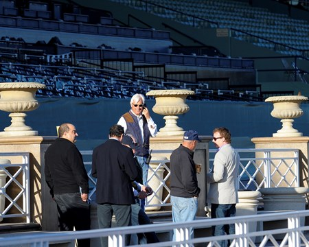 Caption:  Bob Baffert with some of his owners