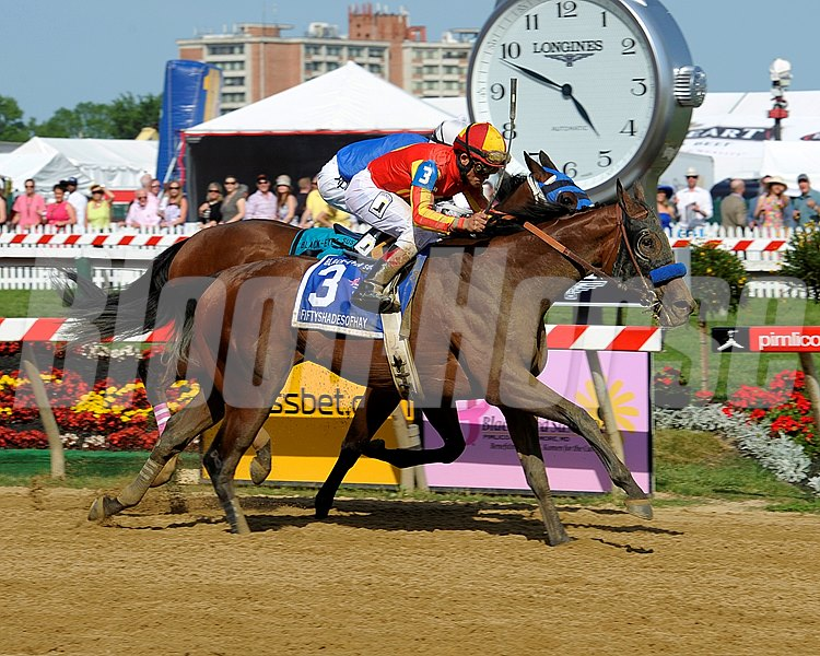 Caption: Fiftyshadesofhay with Joel Rosario wins the Black-Eyed Susan Stakes (gr. II).